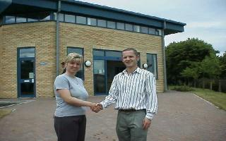 Donna Spicer, Facilities Manager, and Neil Armstrong, Managing Director, as MeddiQuest move into the 